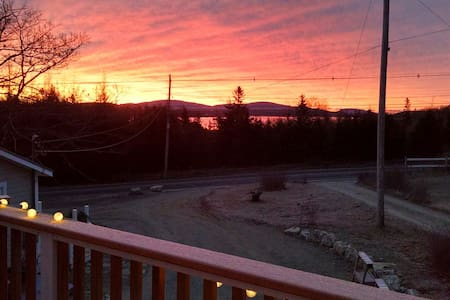 Acadia sunrise deck apartment