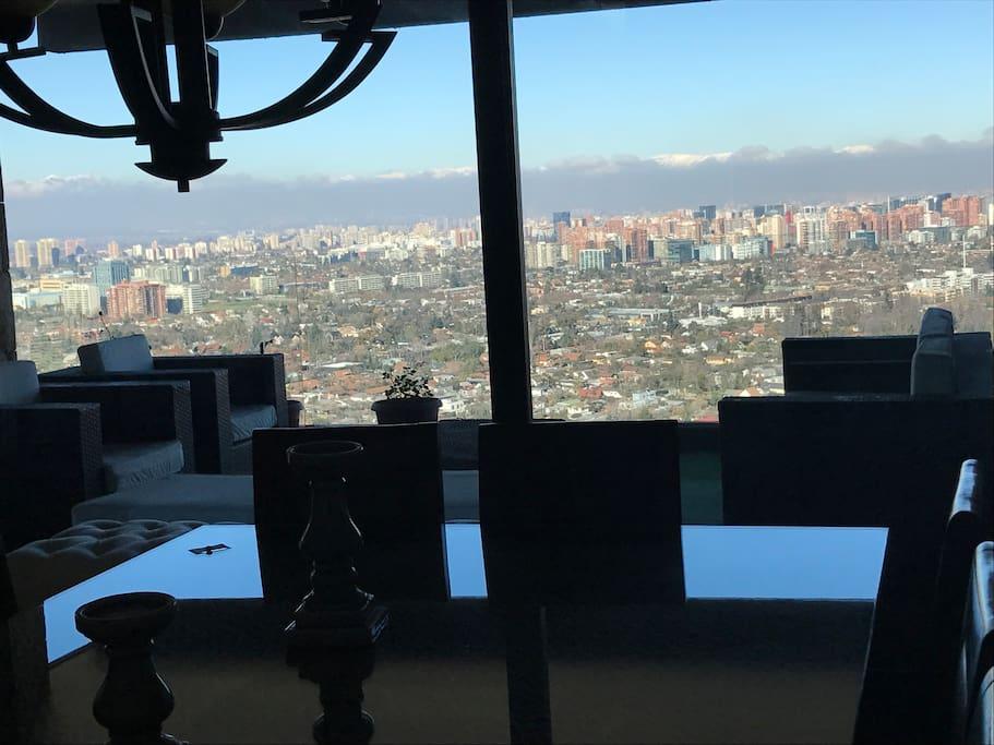 Vista a Santiago