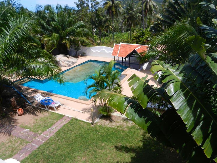 4 chambres piscine choeng mon beach maisons louer for Piscine a debordement thailande