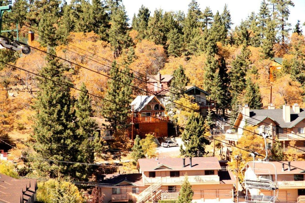 Cabin from ski lift-middle of picture