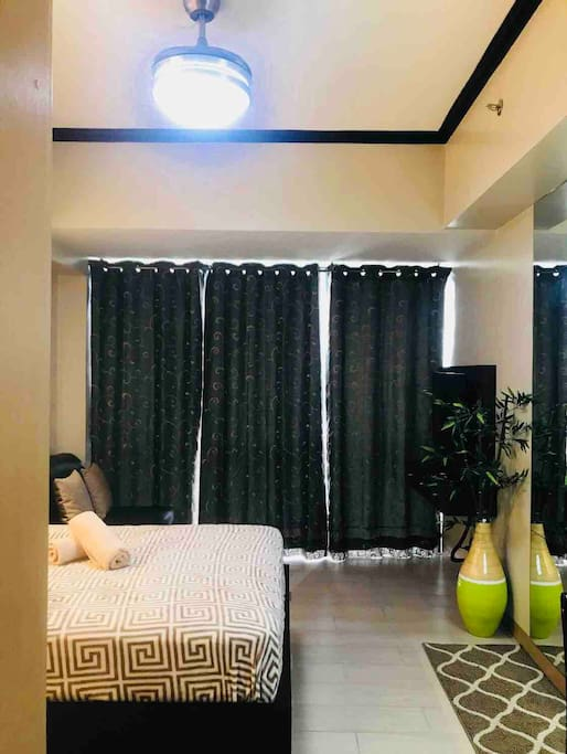 Imported blackout curtains to block the bright sunshine
