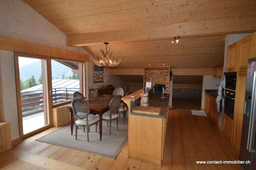 Kitchen and dining area.  Seat up to 12 with 2 table leaves.