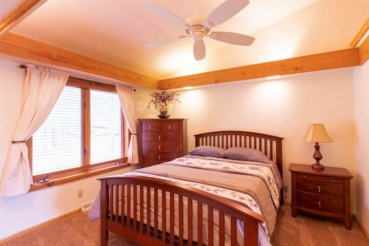 The second bedroom that is connected to the master suite on the main floor works well for people with mobility issues too!