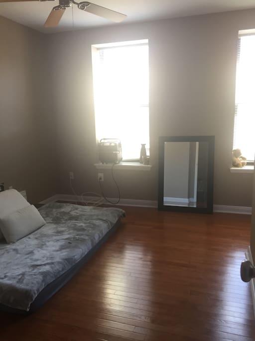 Bohemian Style Bedroom with Corner Desk Area