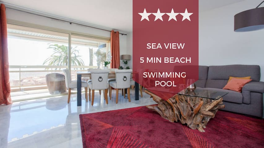 ☀ FACING THE SEA ☀ terrace, swimming pool and private parking - Palm Beach