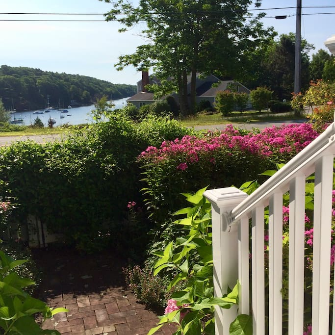 Front stoop in late spring