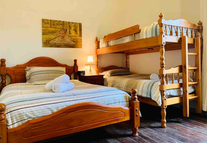 Family Bedroom 1 with Double  bed & Bunk bed +sofa bed