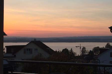Cosy apartment -Beautiful lake view - Zug