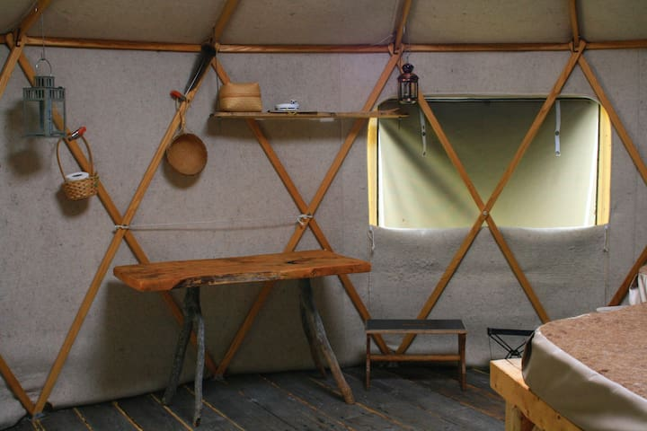 Glamping in Yurta: 50 acres of nature+pure privacy
