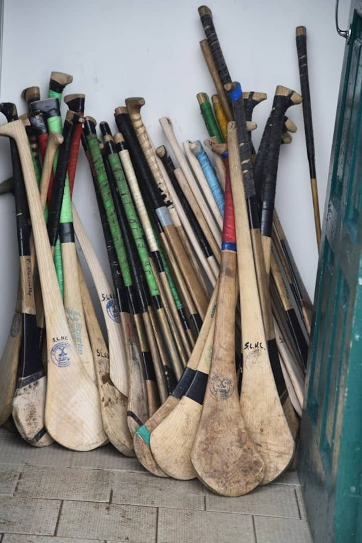 Our bunch of hurls made of ash