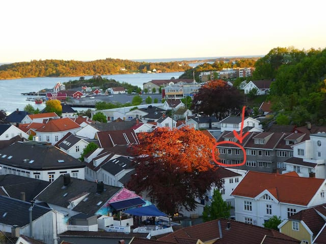 In the heart of the Idyllic Grimstad