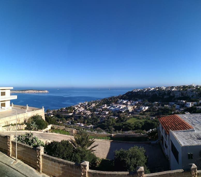 The sea view from the apartment balcony