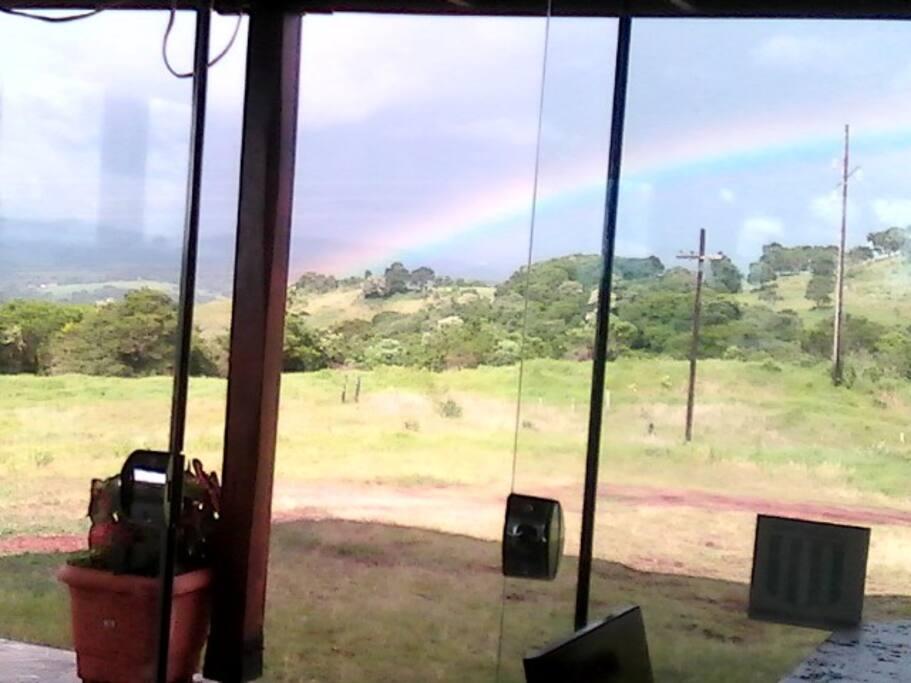 Arco iris desde el salon
