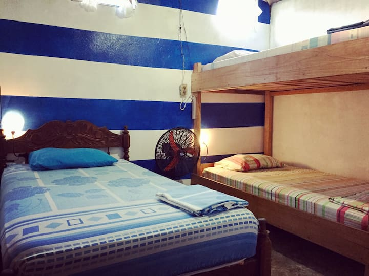 3 beds in Dormitory Room in Typical House