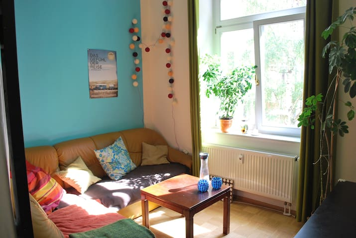 Lovely room close to river and trendy neighborhood - Dresden - Wohnung