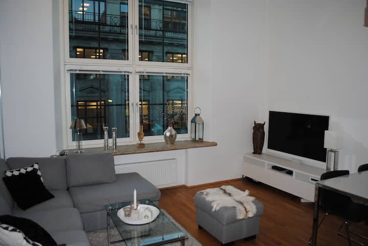 Modern apartment in downtown Oslo.