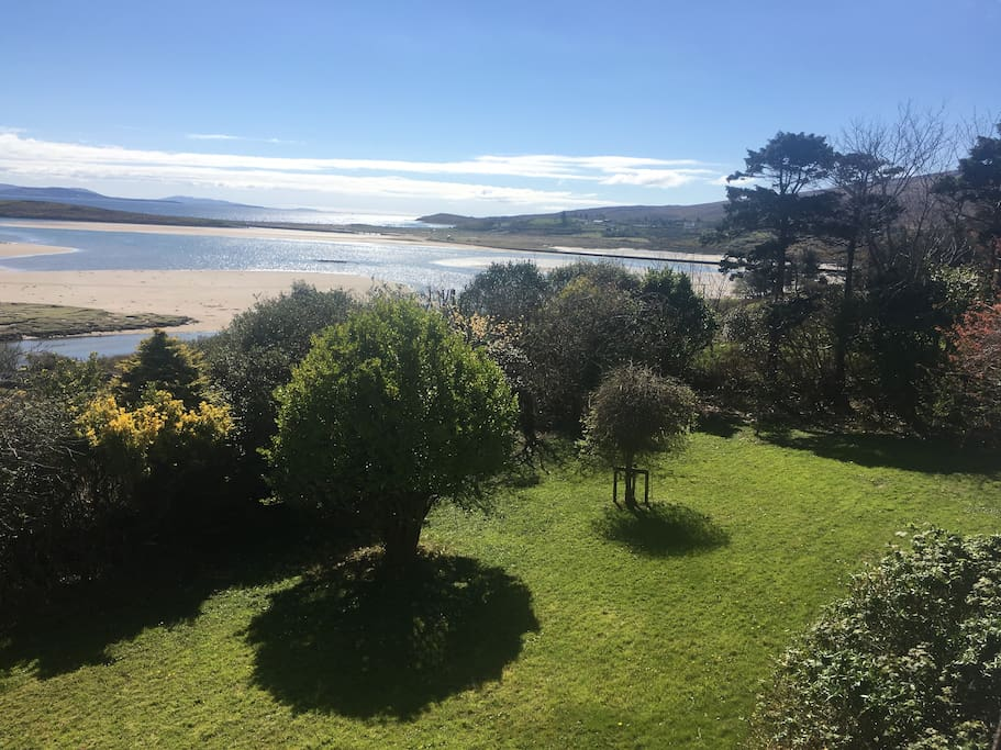 Our garden and Mulranny beach