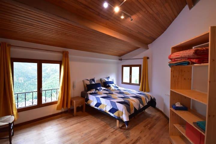 Chambre  avec grand lit / séparable en 2 lits individuels