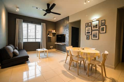  NEW  COZY Modern Apart 3R 6pax WiFi-SPICE-Airport