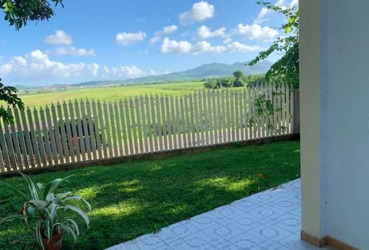 Apartment with 2 bedrooms in Ducos, with wonderful mountain view, enclosed garden and WiFi - 13 km from the beach