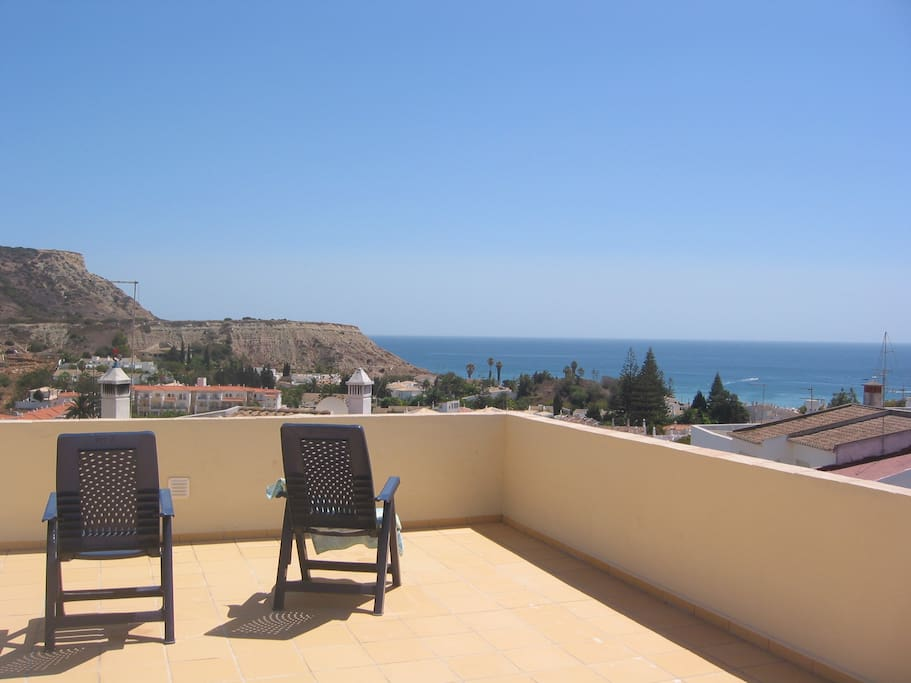 Fabulous sea view from the roof terrace