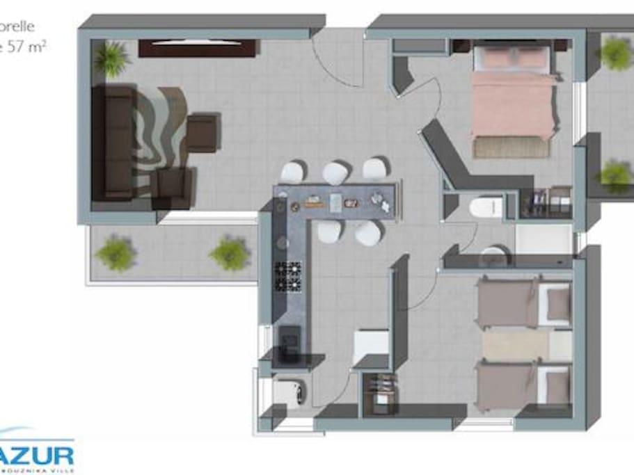 le plan de l'appartement
