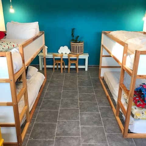 Bedroom, two bunkbeds