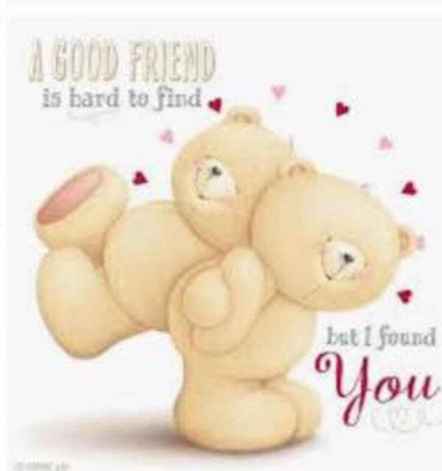 """""""Friend forever """"Beary was on the wall with you .. come and stay with them"""