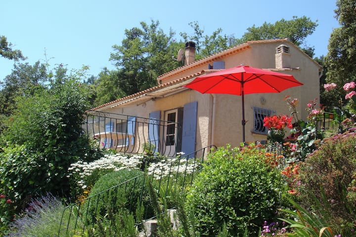 Detached house with flowering garden and paddling pool near Signes