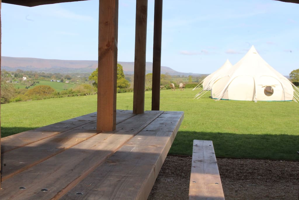 The wonderful mountain views from the Log Retreat.