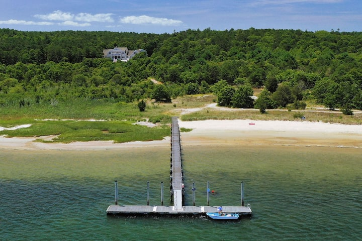 Cape Cod Estate with Private Sandy Beach and Dock!