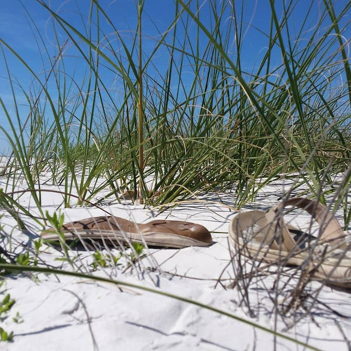 Nearby at Fort Desoto State Park, love that sand!