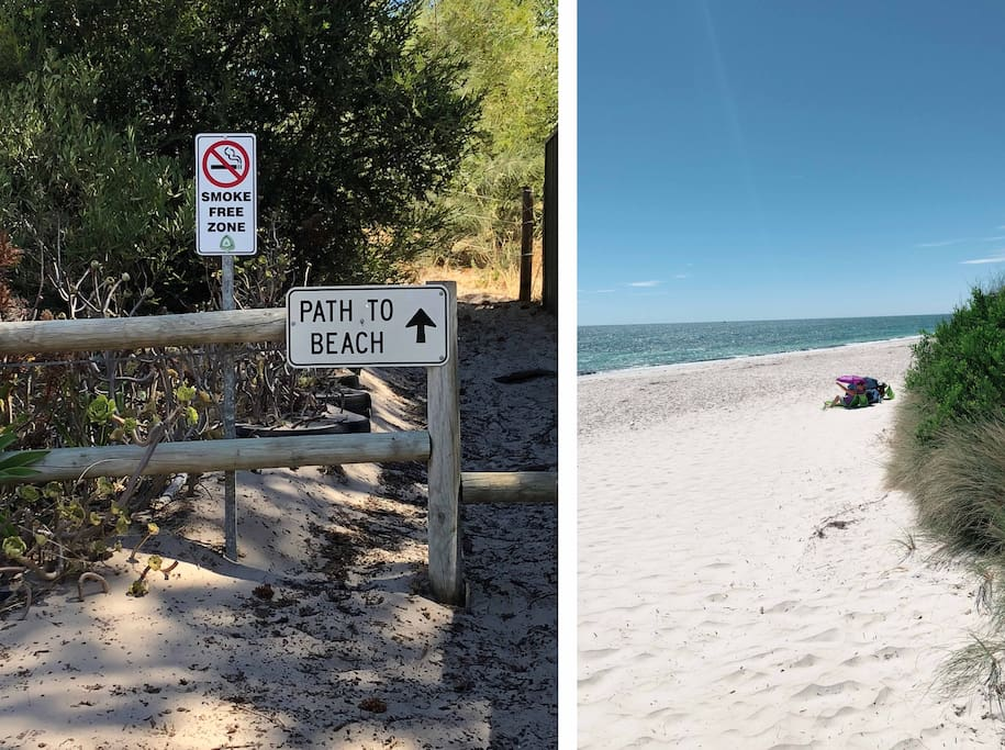Steps to the beach access