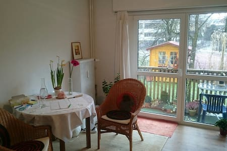 1 Zimmer mit Balkon und Garten - Weingarten - Apartment