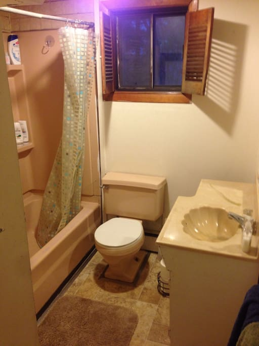 Bathroom next to guest room