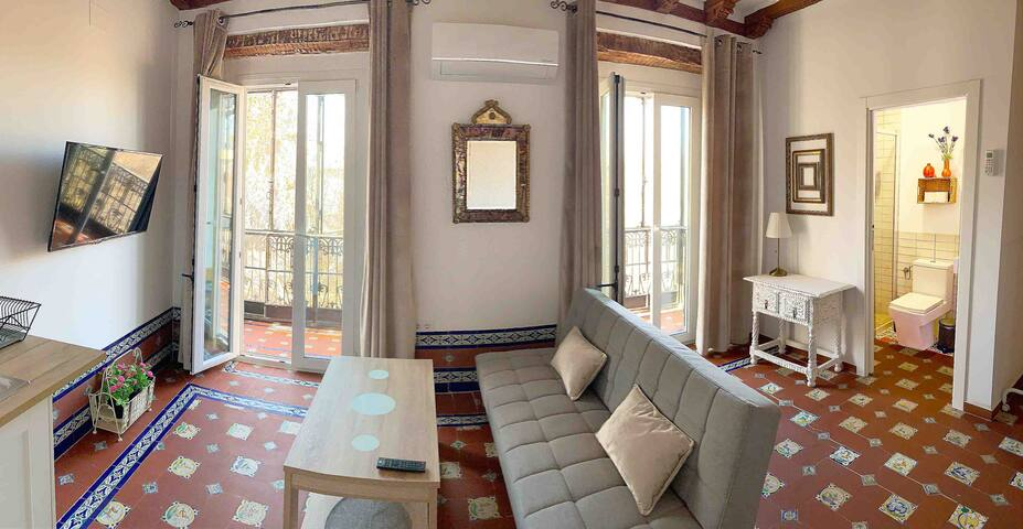 NEW apartment in a PALACE-HOUSE with balcony