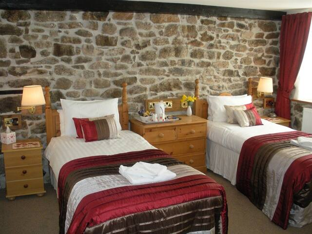 Haytor - Large twin room with en-suite shower