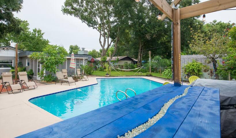 Pool home with backyard paradise!