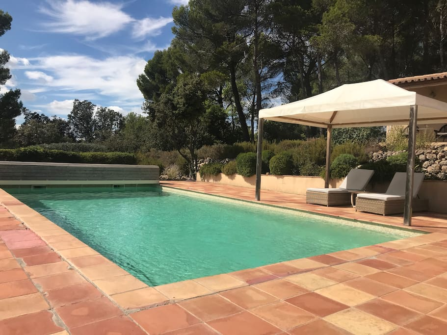 10 metre x 5 metre swimming pool with covered pagoda