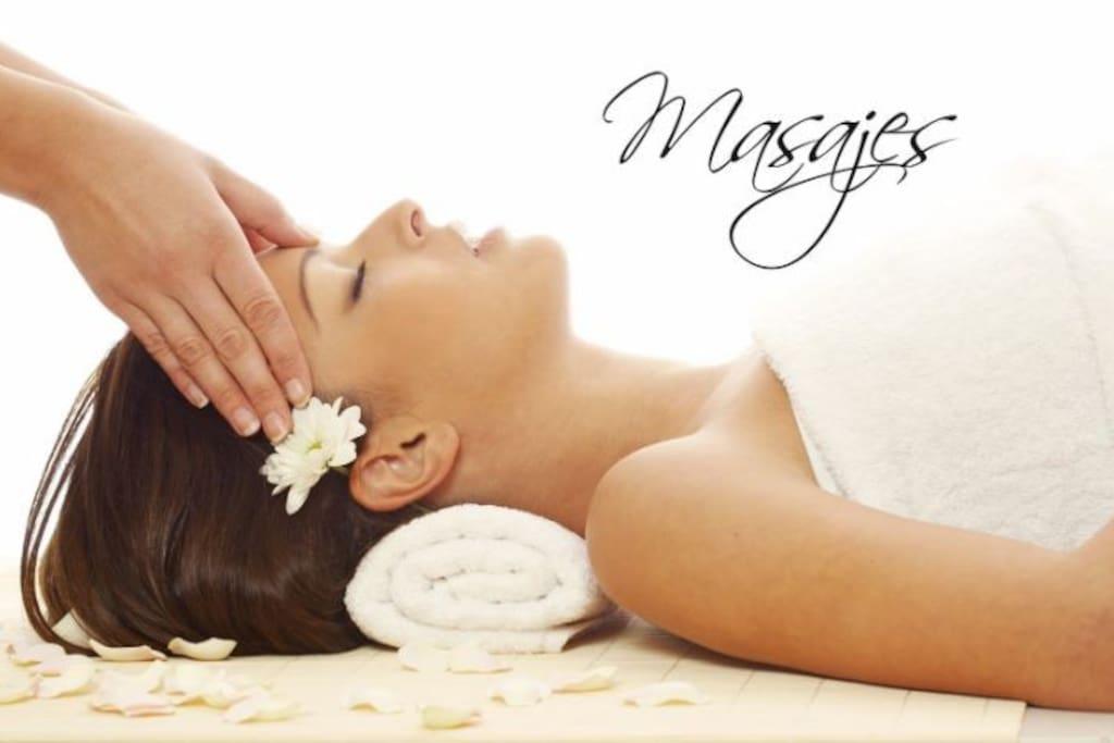 Masajes, Piedras calientes, Reflexología, Faciales, Aparatología, terapia con cristales energéticos, Flores de Bachs