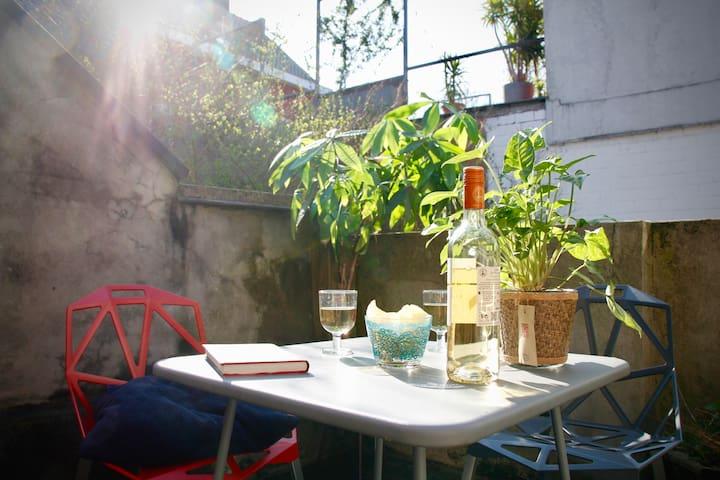 Ruim appartement met terras in Gent centrum