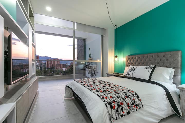 Studio Apartment - El Poblado - Amazing View 1001