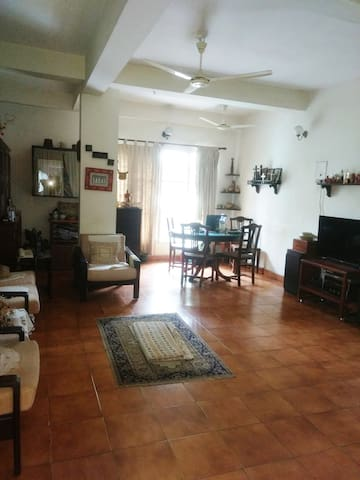 View of the Hall and Dining area from the entrance to the Apartment