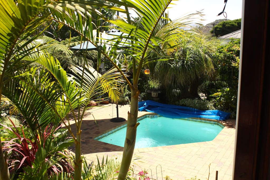 Garden and communal pool