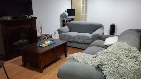 Entirely renovated bedroom in basement