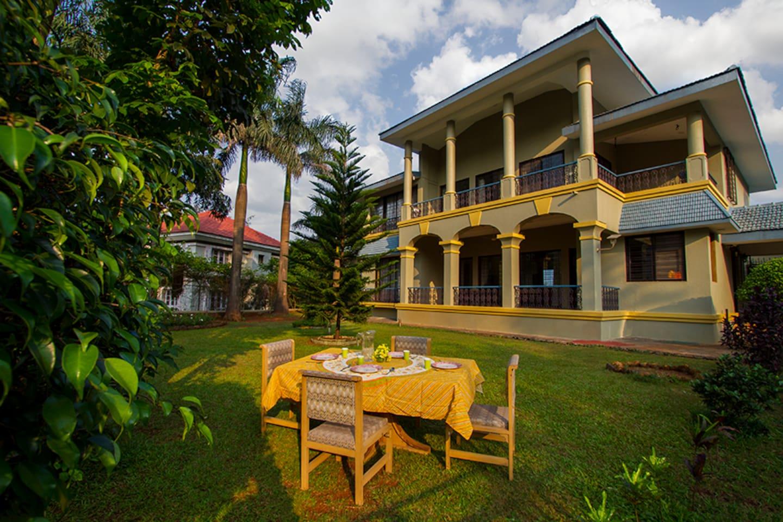 Villa with a lawn