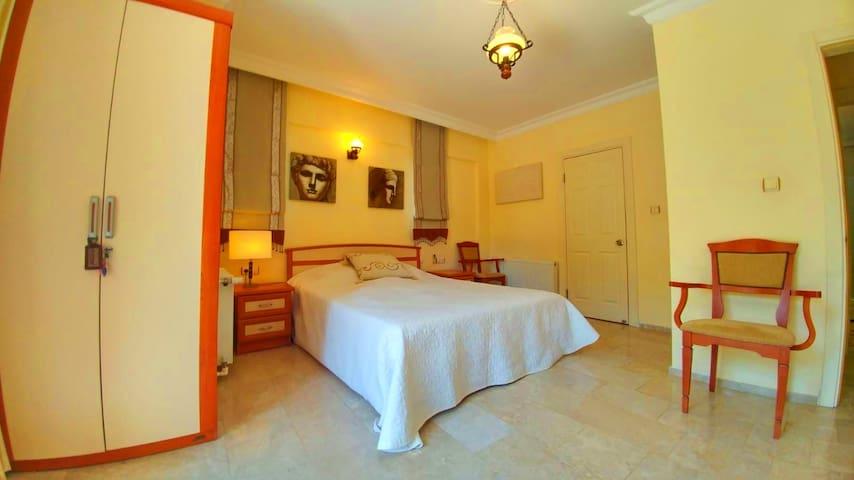 Bedroom 1:  King Size Bed Toilet & Bath