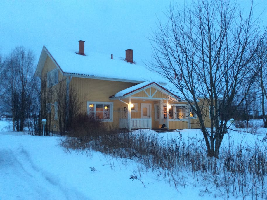 This house has a big garden. Located only about 1 km from the Road 75.  50 km from Kemi and 60 km from Rovaniemi.