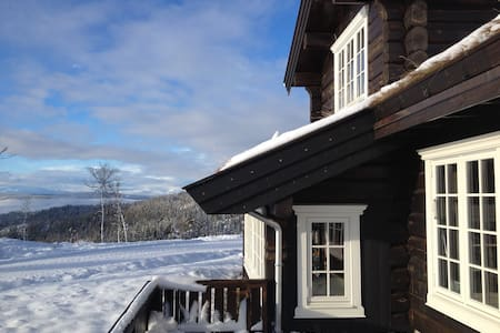 Luxury mountain log cabin in Valdres.
