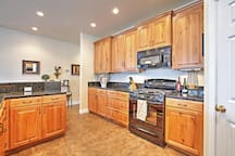 The full kitchen has everything you need.